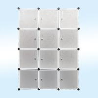 Clear 6 Grids 2 Hanging Storage Organizer Wardrobe Bookcase Shoes Cabinet