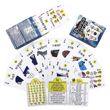 Euramerican Children Baby English Learning Pocket Flash PVC Playing Cards Cutely Cartoon Kids Educational Word Table Poker Games