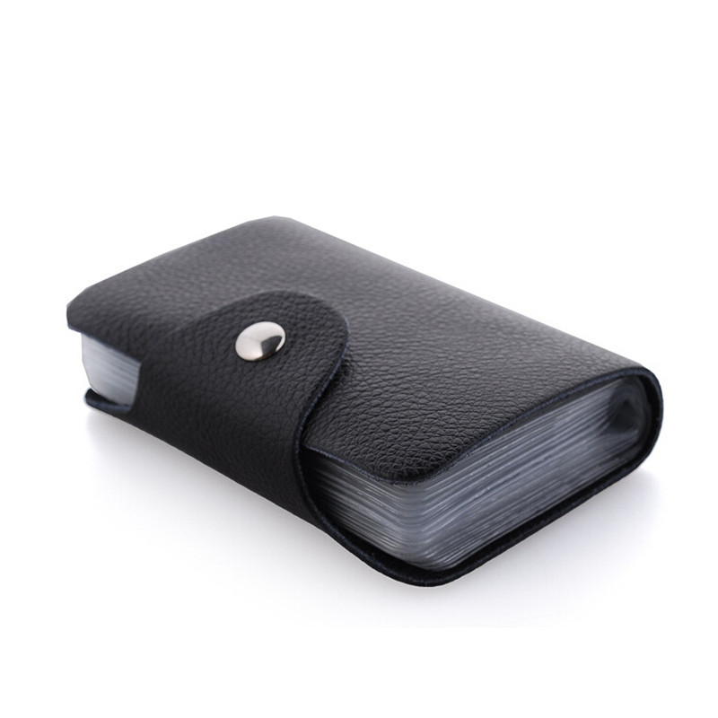 26 position card wallet 100% brand Genuine leather business card ...
