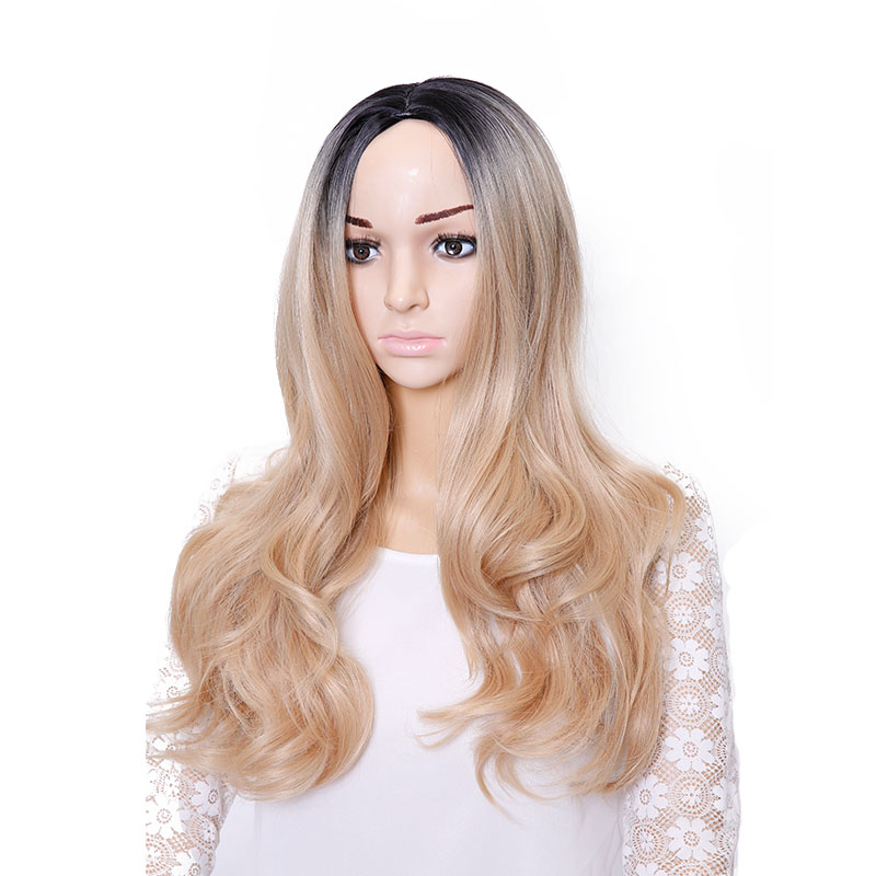 Cheap Long Wavy Hairstyles Brown Wig Cosplay Synthetic