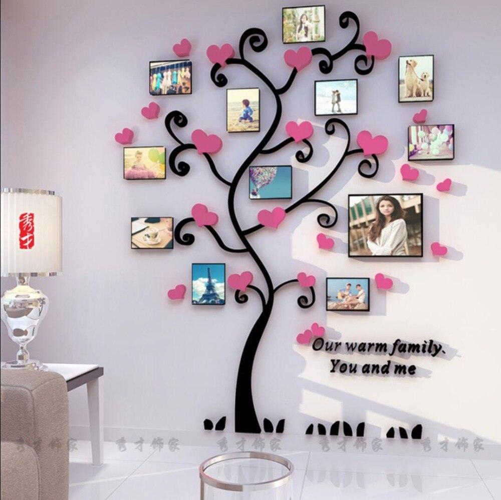 Yaradıcı Uşaqlar DIY 3D Etiket Romantik Sevgi Ağacı Şəkil - Ev dekoru - Fotoqrafiya 4