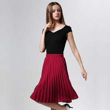 Chiffon Vintage High Waist Pleated Skirt