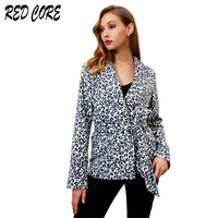 REDCORE Ladies Coats Leopard print Jacket Women Autumn Winter Outerwear Womens Faux Fur Jacket Fashion Ladies Slim Clothes JK010