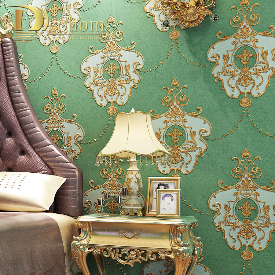 Luxury Vintage European Style Damask Wallpaper For Walls 3 D Embossed Modern Home Wall paper Rolls For Living room Bedroom Decor xinew male clock luxury brand stainless steel quartz military sport leather band dial men wrist watch erkek kol saati hot sale