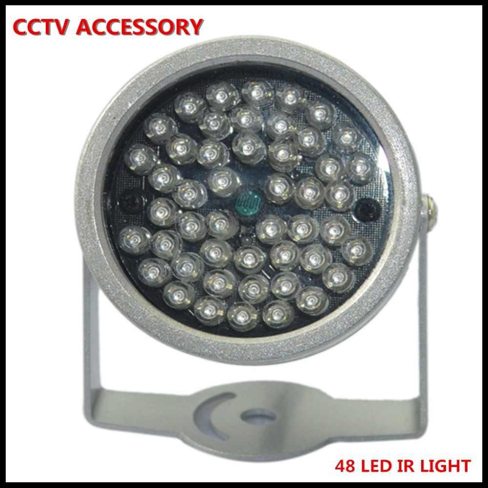 أداة إصدار الأشعة تحت الحمراء إضاءة آمنة 48 قطعة الأشعة تحت الحمراء LED للرؤية الليلية كاميرا مراقبة بالدوائر التليفزيونية المغلقة 10 متر قبة خارج مقاوم للماء