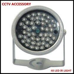 Oświetlacz ir oświetlenie bezpieczeństwa 48 sztuk podczerwieni LED do noktowizyjnego kamera monitoringu cctv 10M kopuła na zewnątrz wodoodporna