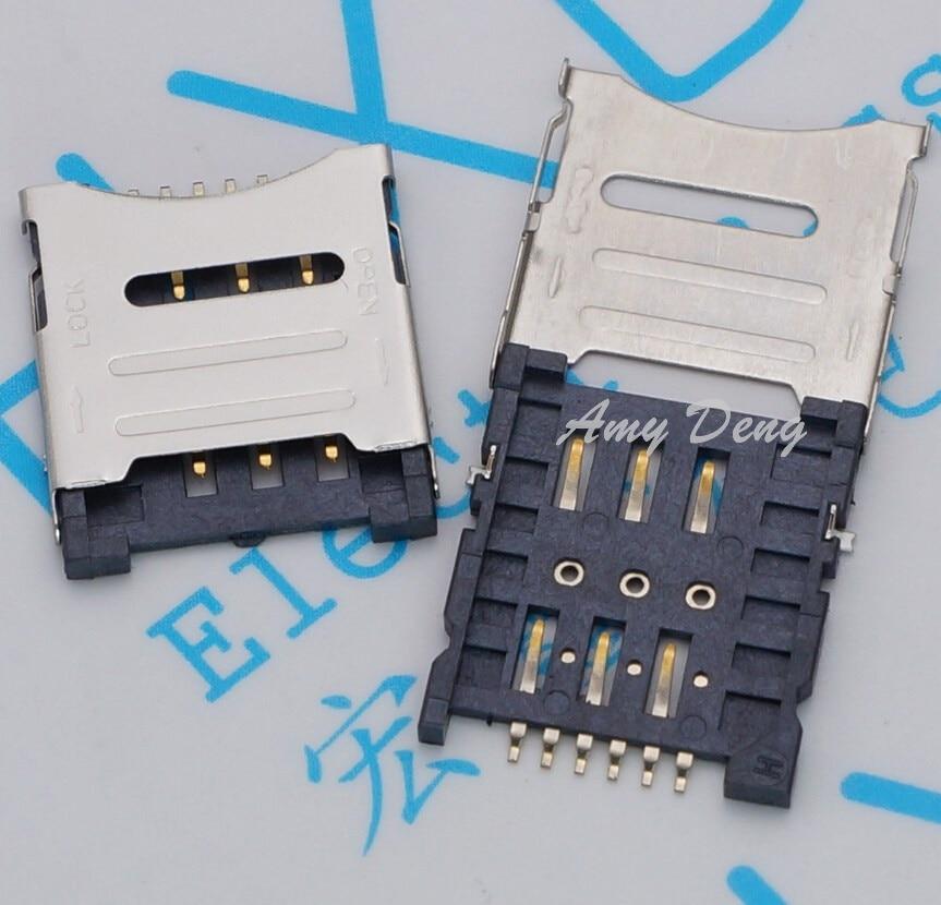 200pcs/lot  Card MICRO Card Flip Type 1.8H 6P Card Slot