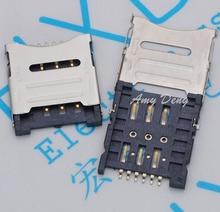200 шт./лот карты Micro Card Флип типа 1.8 H 6 P разъем карты