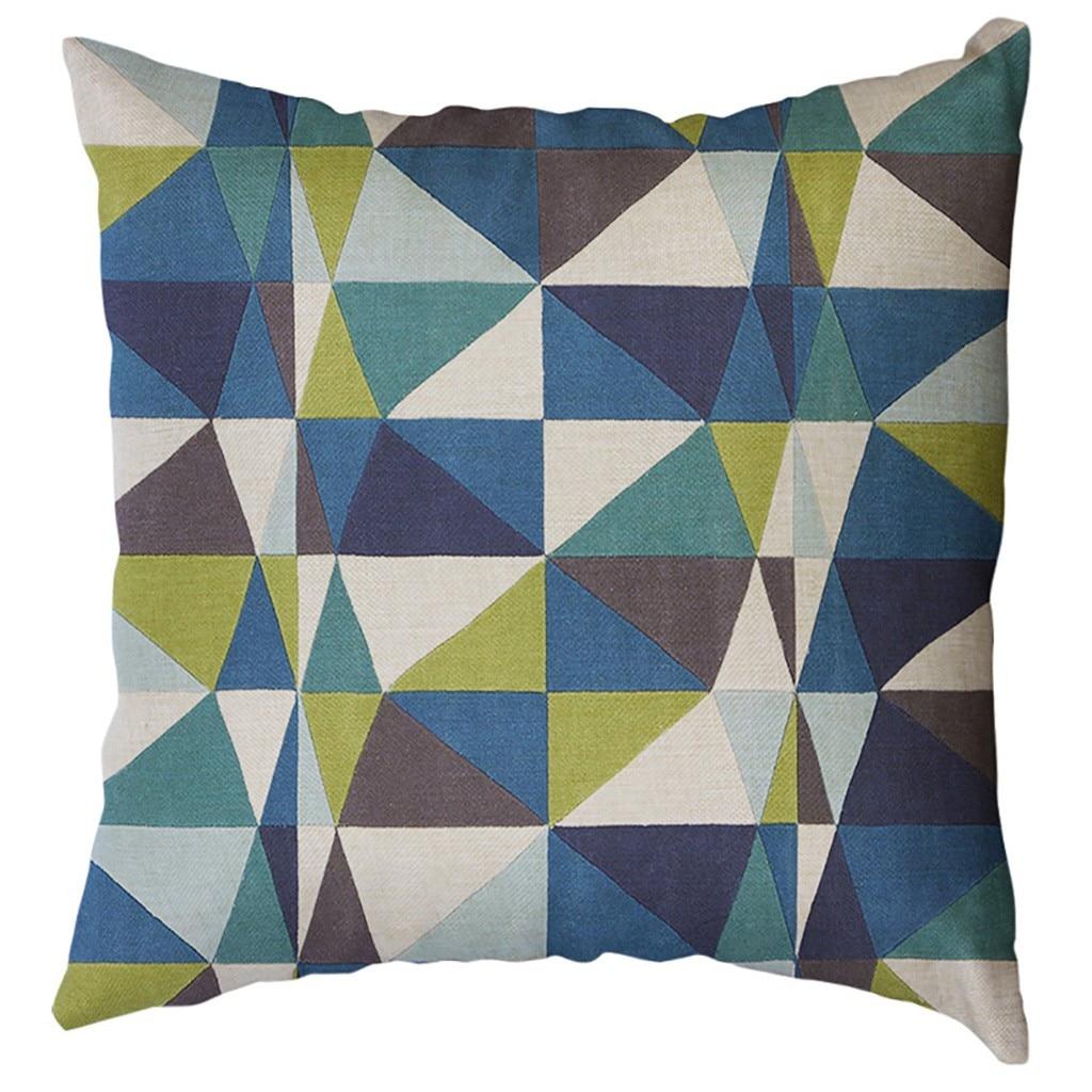 Image 2 - Irregular Geometric Pattern Pillowcase Cushion Cover 60x60cm Sofa Waist Throw Cushion Cover Home Decor Cushion Covers Gift-in Cushion Cover from Home & Garden