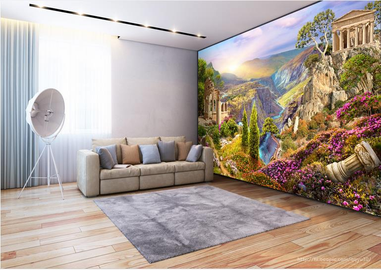Photo Wallpaper Custom Any Size Wallpaper For Walls 3 d Living room Bedroom Valley Scenery Backdrop Wallpaper Hotel Decoration custom any size mural wallpaper 3d stereoscopic universe star living room tv bar ktv backdrop bedroom 3d photo wallpaper roll