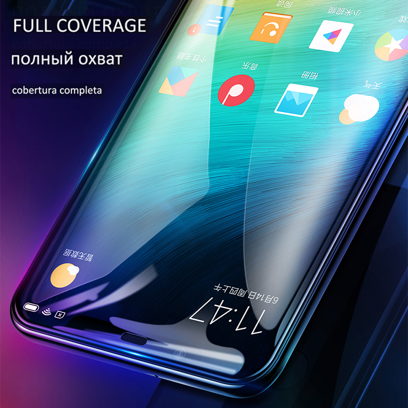 Image 5 - Full coverage Tempered Glass  For Redmi Note 8 Pro7 6Pro Full Glue For Mi 9 se  8 Lite cc9e A3 Redmi 5Plus Y3  K20 Russian stock-in Phone Screen Protectors from Cellphones & Telecommunications