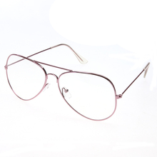 Unique Clear Lens Glasses Metal Plain Glass Spectacles Frame UV400 Classic Glasses Metal Spectacle Frame Oversize Vintage Glass