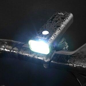 Image 2 - Gaciron poziom konkursu światło rowerowe 800 lumenów reflektor na kierownicę rowerową 5 trybów przełącznik drutu 2500mAh IPX6 wodoodporny rower przednie światła