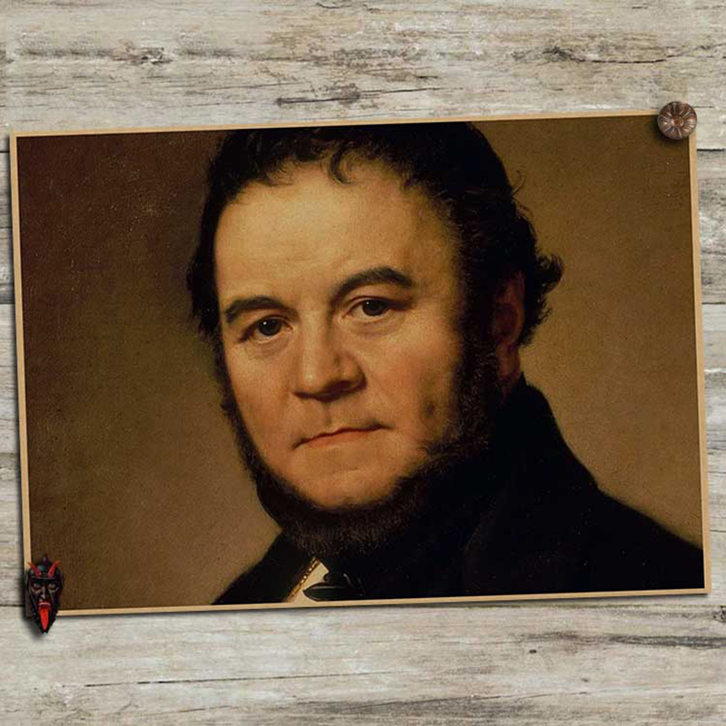 stendhal poster celebrity portrait sticker french writer portrait  stendhal poster celebrity portrait sticker french writer portrait vintage paper posters classroom library litterateur decor in painting calligraphy from