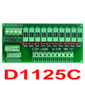 Panel Mount 10 Position Power Distribution Fuse Module Board, For AC/DC 5~48V.