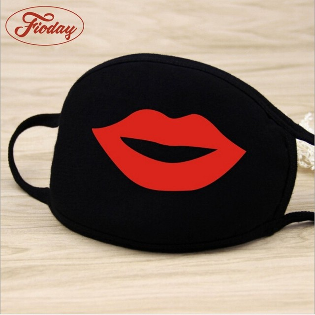 Fioday Cotton PM2.5 Black Mouth Mask Anti Dust Mask Activated Carbon Filter Windproof Mouth-muffle Bacteria Proof Flu Face Masks 3