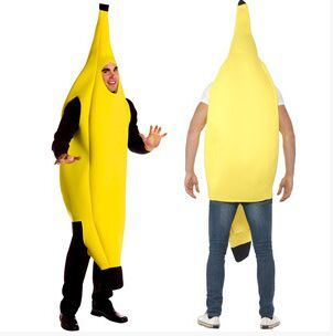 2016free shipping Men Cosplay Adult Fancy Dress Funny sexy Banana Costume novelty halloween Christmas carnival party decorations