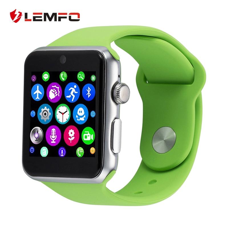 Galleria fotografica Lemfo lf07 smart watch téléphone support carte sim bluetooth poignet <font><b>smartwatch</b></font> fitness tracker apk pour apple ios android smartphons