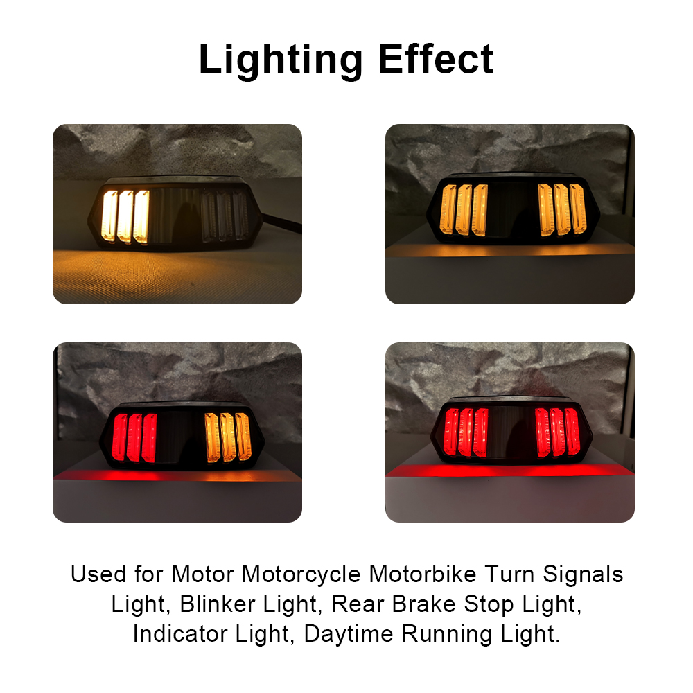 For Honda MSX125 MSX 125 SF 2007 2008 2009 2010 2011 2012 2013 2014 Motorcycle Rear LED Tail Light Brake Turn Signals Integrated in Covers Ornamental Mouldings from Automobiles Motorcycles