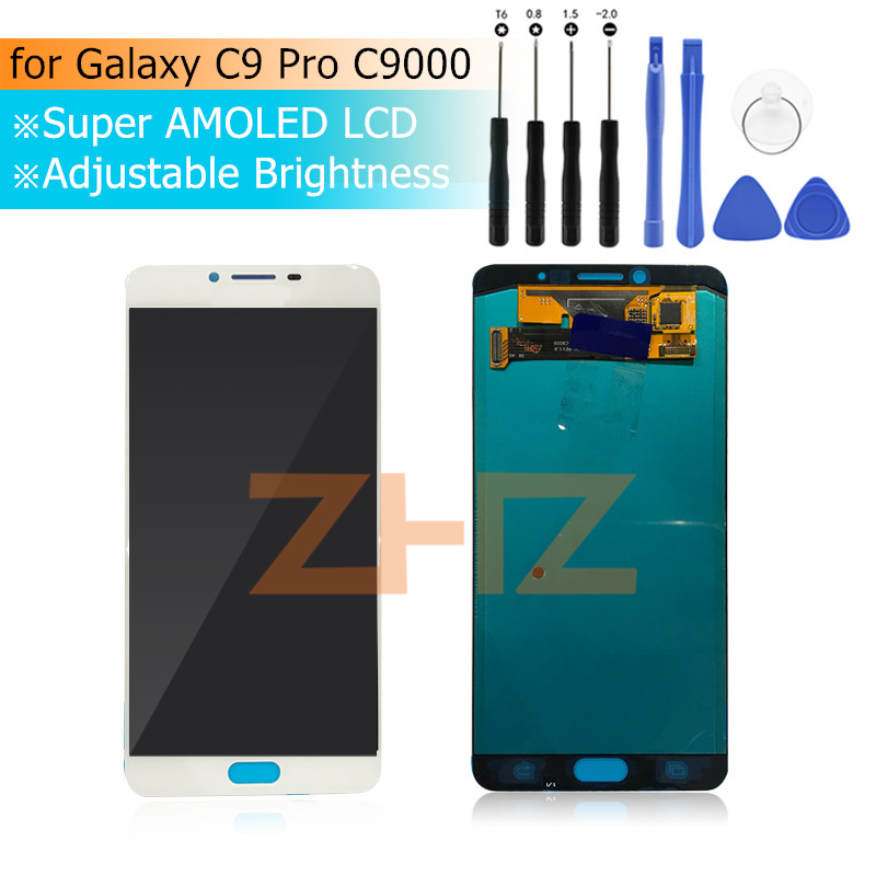 For Samsung Galaxy C9 Pro 2016 C9000 LCD Display with Touch Digitizer Assembly for Galaxy C9