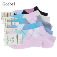 Goebel Summer Cotton Socks Woman Casual Breathable Women Boat Socks Candy Colors Comfortable Female Short Socks