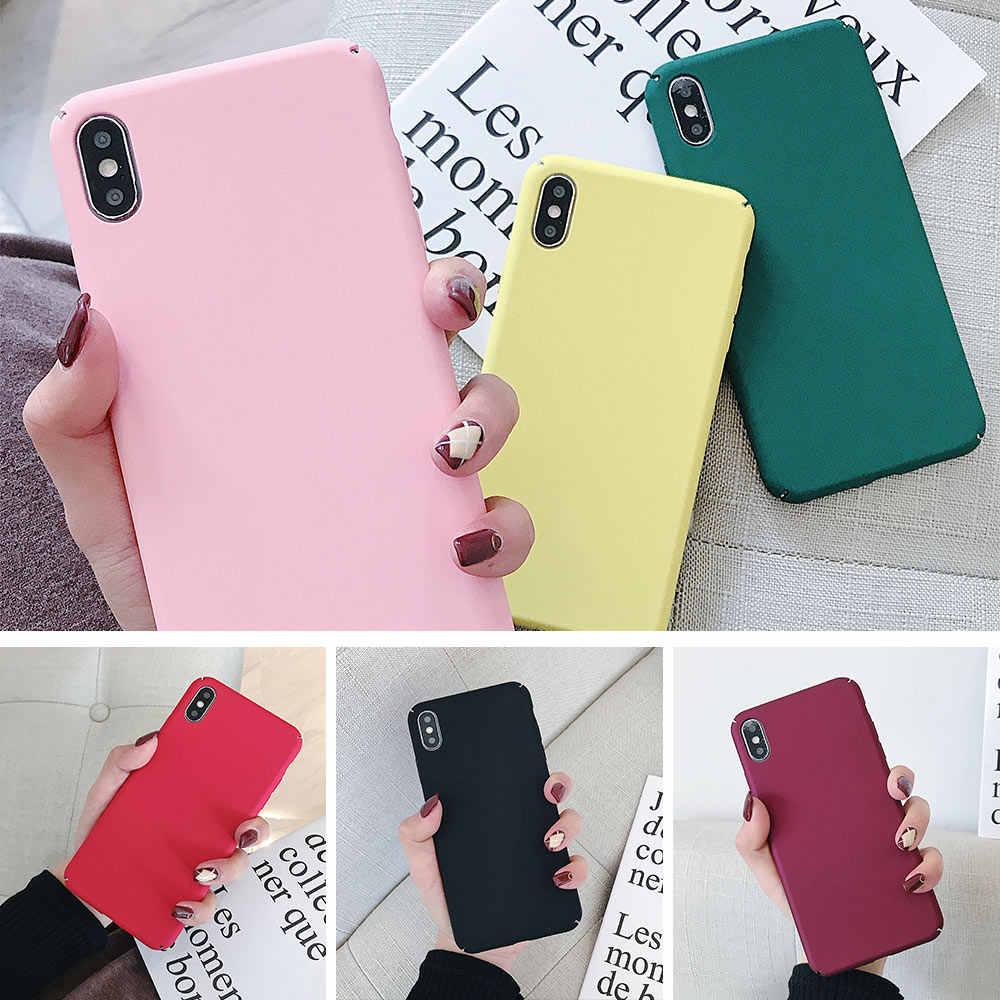 Kisscase colorido anti-impressão digital caso duro para samsung galaxy a50 a30 caso cabido completo para samsung galaxy a9 a8 a7 a6 2018