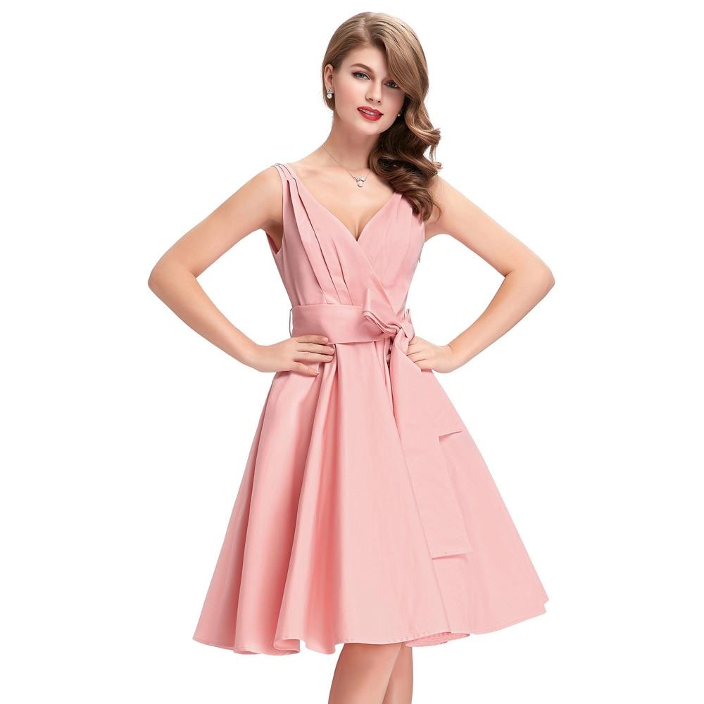 b3b92147162ca US $26.07 36% OFF|Black Pink Tunic Retro Vintage 1950s 60s Dresses Womens  Rockabilly Dress Pin up Vestidos Audrey Hepburn Sexy Party Swing Dresses-in  ...