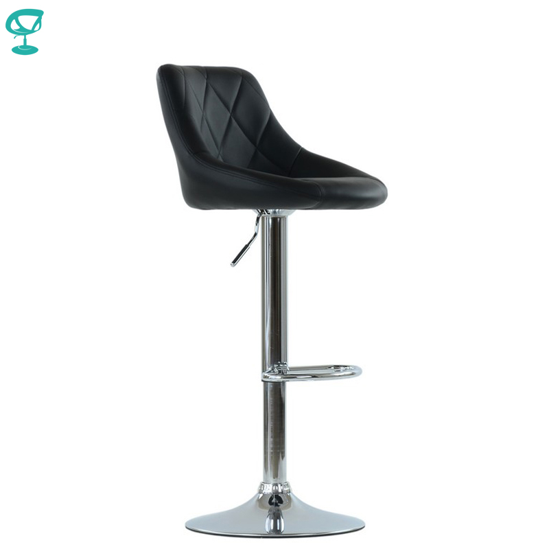 95529 Barneo N-83 Comfort Leather Kitchen Breakfast Bar Stool Swivel Bar Chair Black Color Free Shipping In Russia