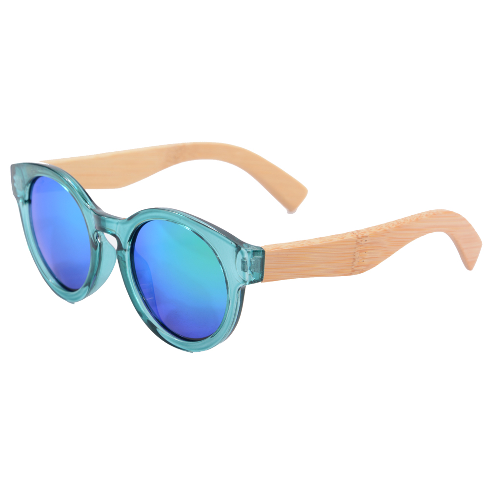 wood bamboo sunglasses retro round  wooden fram sun glasses anti-reflective polarized eyeglasses Oculos de sol masculino 5008