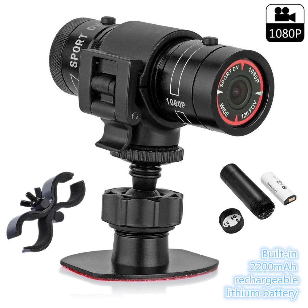 Mini caméscope Trail chasse caméra FHD 1080 P enregistreur vidéo Action étanche Cam HD torche pistolet caméra Sports de plein air casque DV