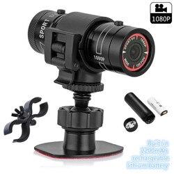 Mini videocámara Trail Hunting Cámara FHD 1080P grabadora de vídeo acción impermeable cámara HD antorcha pistola casco de deportes al aire libre DV