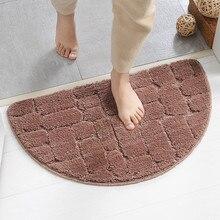 Синель, коврик для туалетной ванны, Противоскользящий коврик, супер абсорбирующий коврик для ванной, кухни, комфортный полукруглый дверной коврик 40*65 см/50*80 см