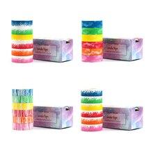 Crayon Series Washi Tape Set Colorful Scrapbooking Tape Set DIY Masking Tape Set 5 Meters Long цена