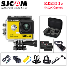 Full Accessories Kit !  2.0″ Screen 4K SJCAM SJ5000X Elite WiFi NTK96660 30M Waterproof Sports Action Camera Car Mini DVR