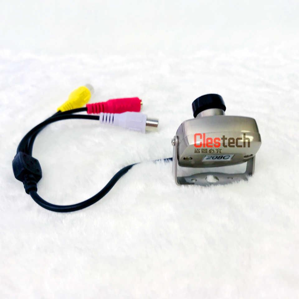 كاميرا صغيرة فائقة الدقة تعمل بالرؤية الليلية 700TVL CCTV HD كاميرا صغيرة AV Audio منتجات مراقبة معدنية مراقبة صغيرة