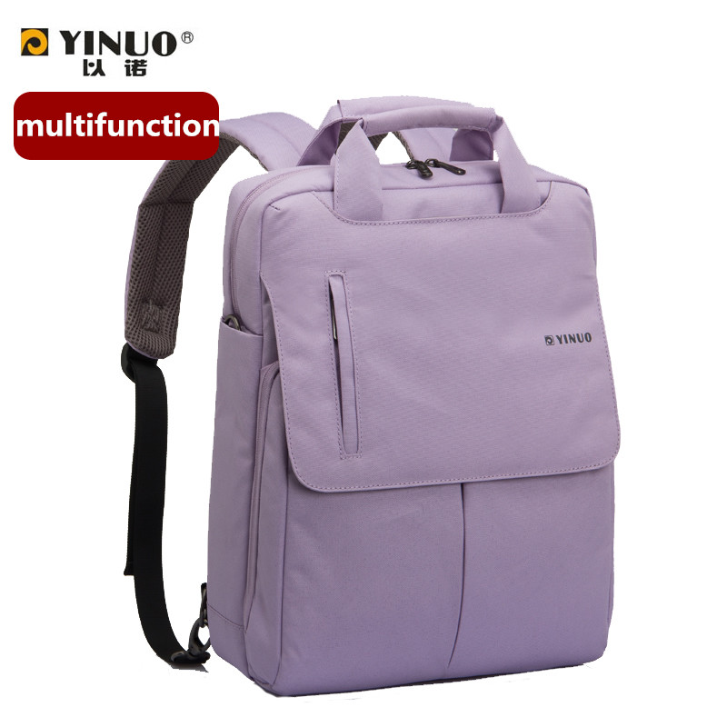 все цены на  High Quality yinuo 13 15 inch Laptop bag Computer Notebook Backpack Business Backpack Travel bag multifunction waterproof bag  онлайн