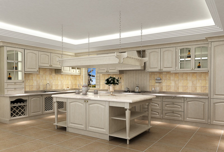 2017 New Design Hot Sales Customized American Solid Wood Kitchen Cabinet America Solid Wood