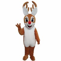 Cospalydiy Custom Made Christmas Bambi Dee Mascot Cartoon Costume Mascot Halloween and Christmas Party Costume L0516