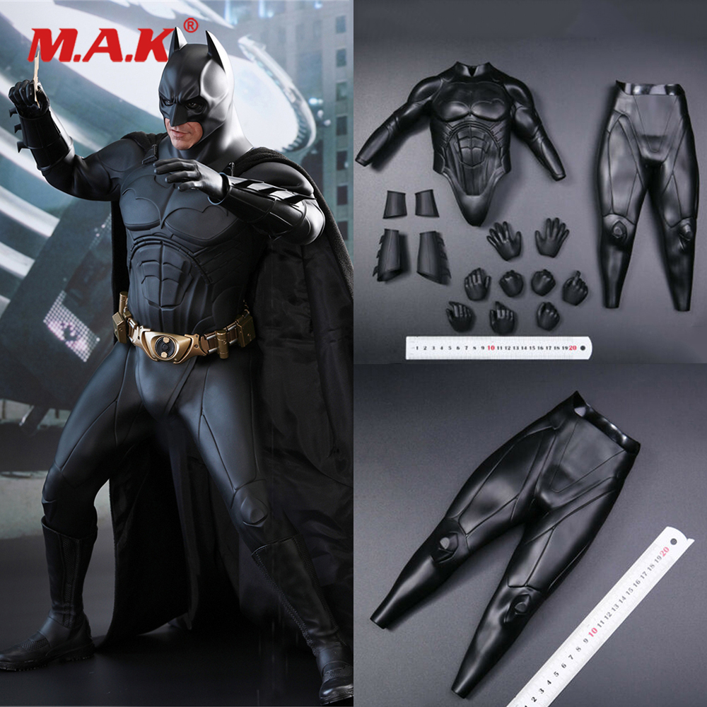 <font><b>1/4</b></font> <font><b>Scale</b></font> <font><b>Figure</b></font> Clothes Set QS009 Christian Bale Batman Fighting Soft Armor & Pants <font><b>Figure</b></font> Toy Collection for 1:4 Action <font><b>Figure</b></font> image