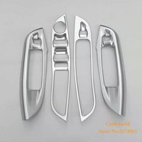 For Ford Focus 3 Glass Switch button cover trim Door window Interior Panel ABS chrome 2012 to 2015 2016 Car Styling Accessories