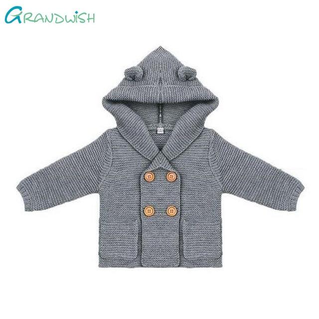 8ebfb5476 Grandwish Sweater Baby Girls Cardigan With Ears Newborn Boys Knitted ...