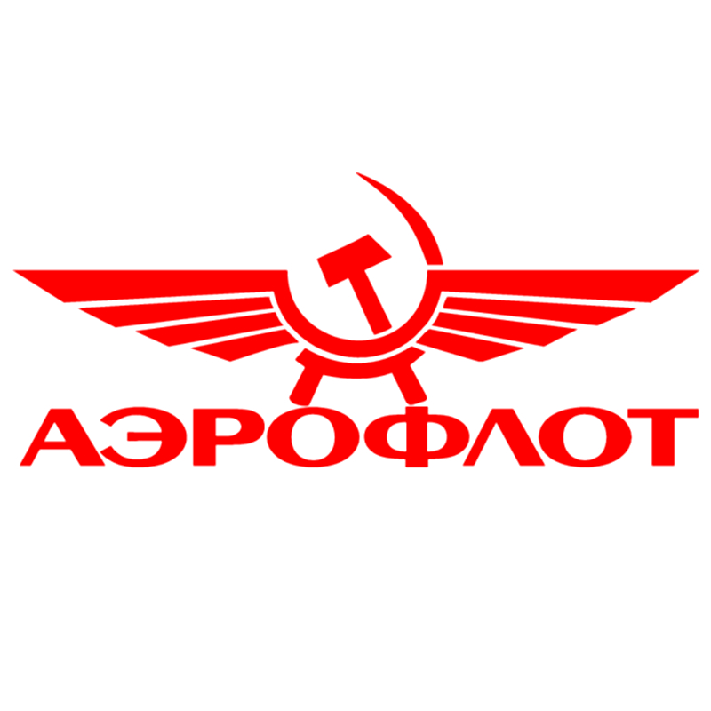 CS-1262#23*10cm Aeroflot Funny Car Sticker Vinyl Decal Silver/black For Auto Car Stickers Styling