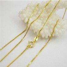 2 шт. в упаковке чистое серебро золото ожерелье 925 серебро ожерелье цепь Продвижение подходит для кулона женский желтый подарок