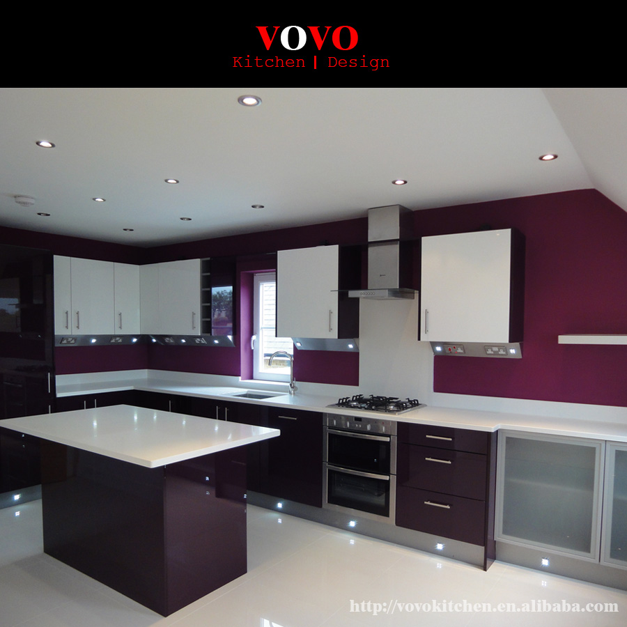 Modern Style Pantry Lacquer Kitchen Cabinets