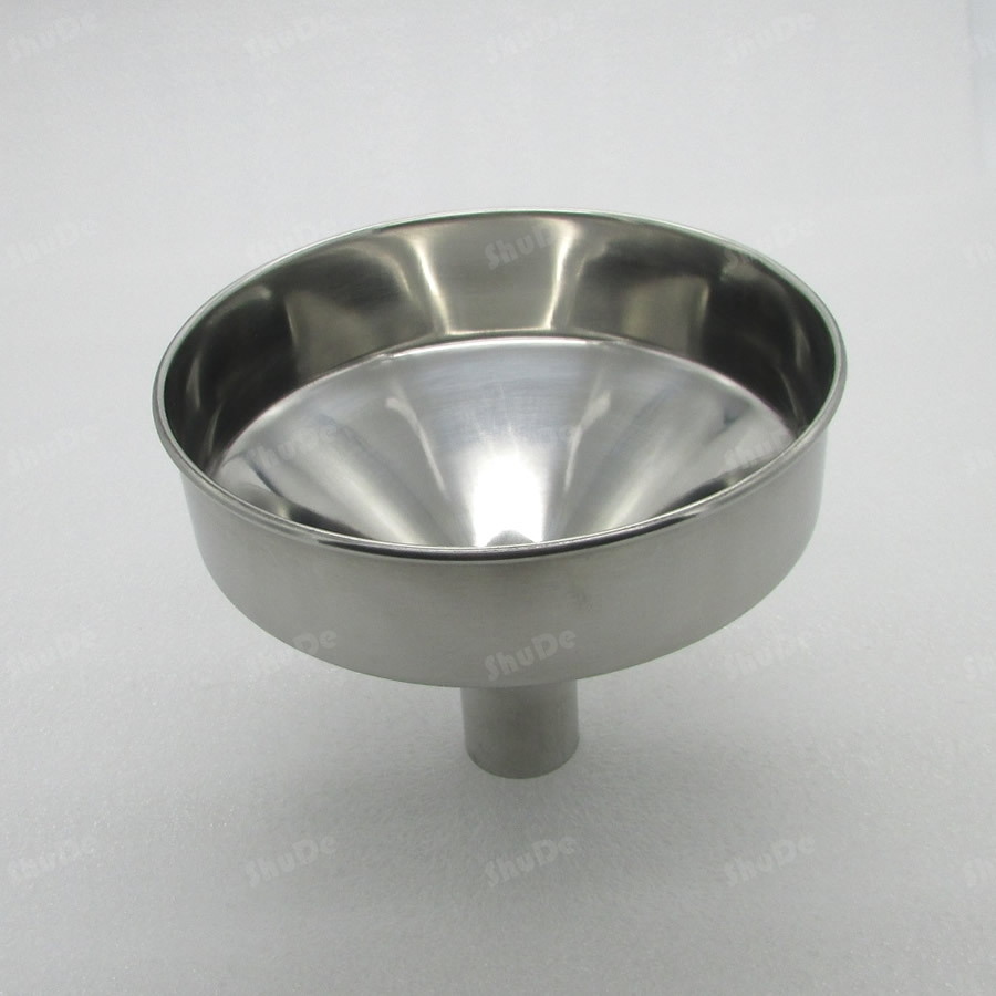 násypka průměr 19cm 20cm 24cm ocelová nálevka Velká nerezová ocel