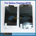 "4.5 ""para samsung galaxy express i8730 módulo de pantalla lcd y pantalla táctil digitalizador asamblea sin marco blanco gris color"