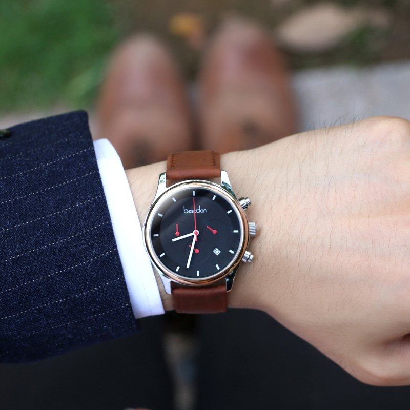 Bestdon Casual Mens Watches Brand Luxury Men's Quartz Watch Sport Military Watches Men Leather Relogio Masculino Montre Homme
