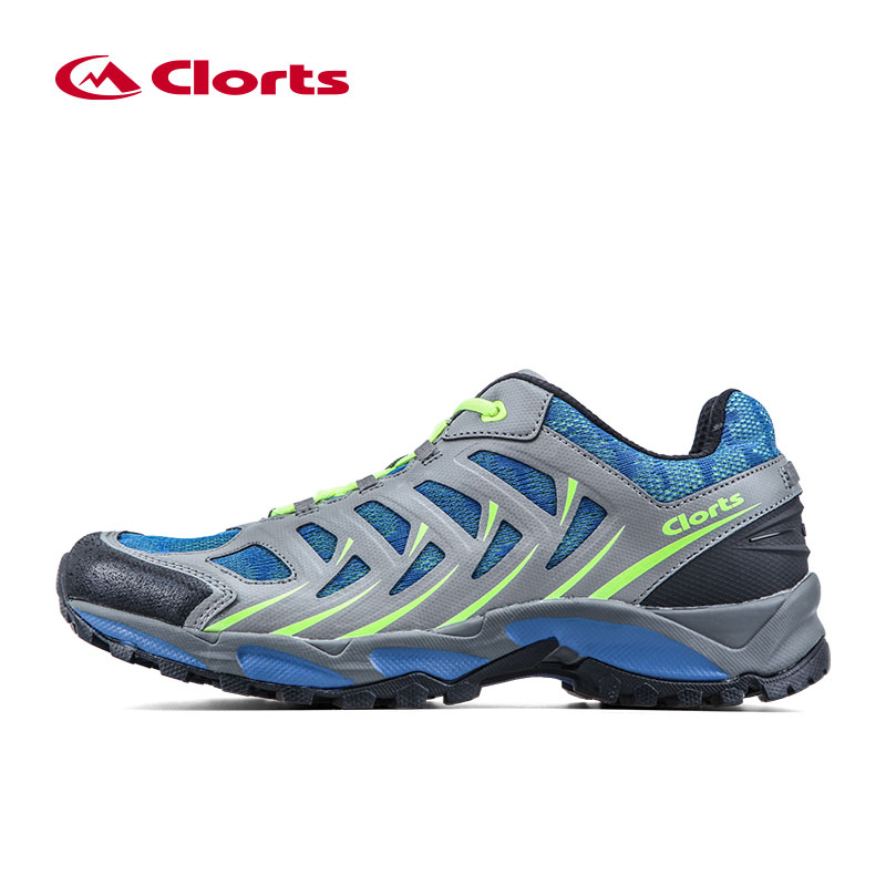 CLORTS Men's Sports Outdoor Hiking Trekking Shoes Sneakers For Men Mesh+Leather Climbing Mountain Trail Shoes Breathable Man clorts hiking shoes for men outdoor suede leather trekking shoes lace up climbing shoes mens hiking rock shoes sneakers 3e004b