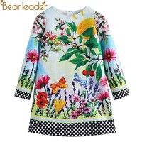 Bear Leader 2017 New European And American Style Spring Scene Pattern Printing Long Sleeves White Girl