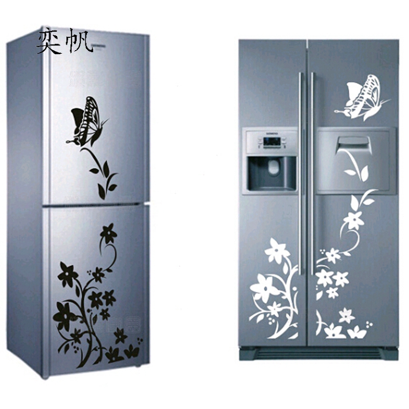 diy creative refrigerator sticker butterfly home decor diy wall stickers for kids room wall. Black Bedroom Furniture Sets. Home Design Ideas